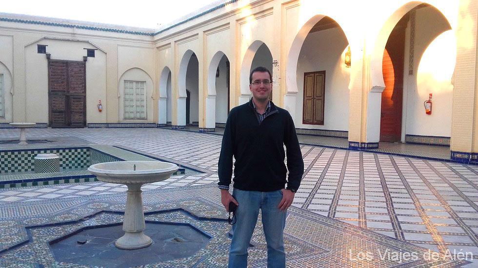 patio del museo Bata en Fez