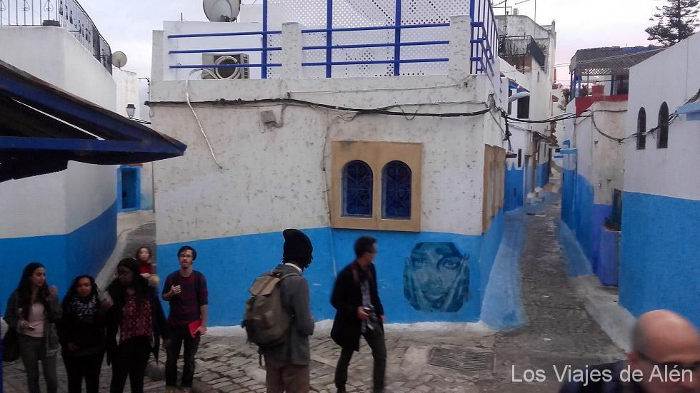Calles de la Kasbah de los Oudaya