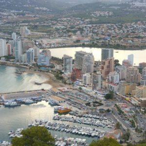 Vista Del Puerto De Calpe, Tomada Desde La Cima Del Peñón
