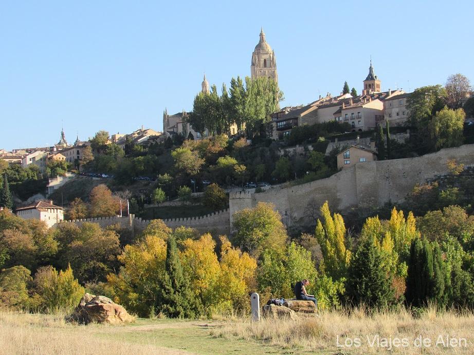 Vista de Segovia desde la Iglesia de Vera Cruz