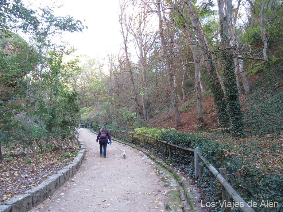 Subiendo por el fondo de la hoz del río Clamores en Segovia