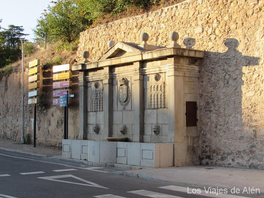fuente en el Paseo de los Tilos, Segovia