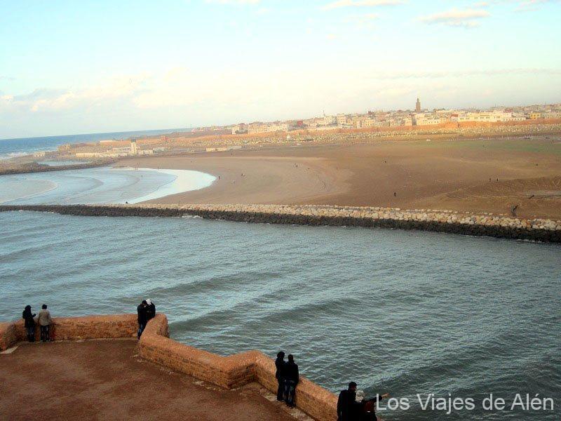 Vista De Salé Desde La Kasbah De Los Oudayas (Rabat)