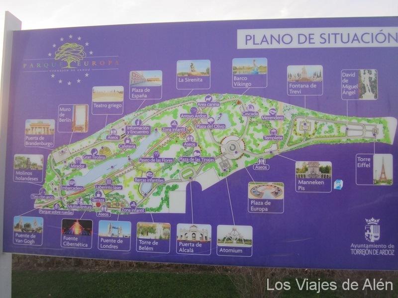 plano del Parque Europa
