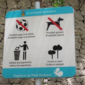 Normas Del Paseo Ecológico, La Prohibición De Los Perros No La Entendemos
