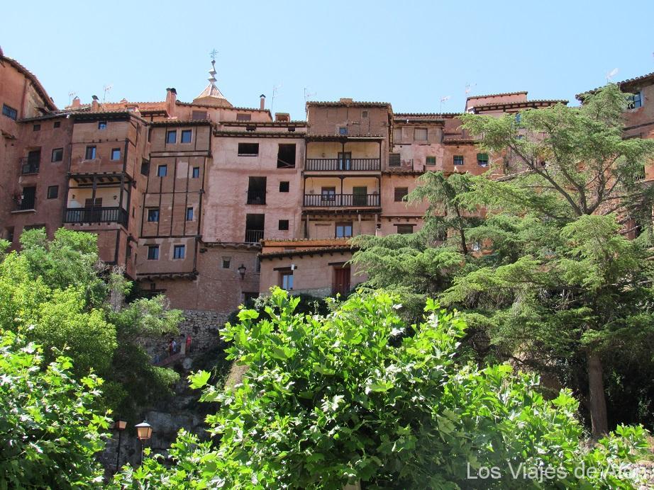 Casa de tonos rosados de Albarracín.
