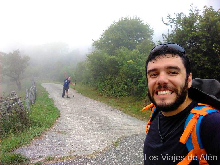 En plena ruta del Camino Lebaniego