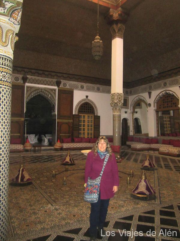 Interior Restaurante Palacio Mnebhi En Fez
