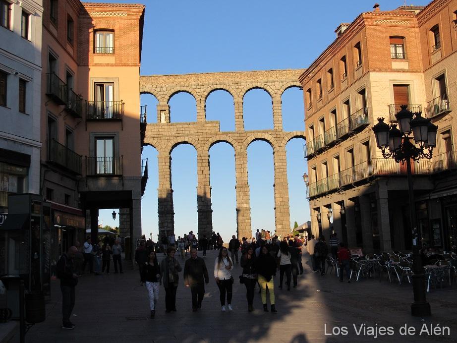 Por fin llegamos de nuevo al espectacular Acueducto de Segovia