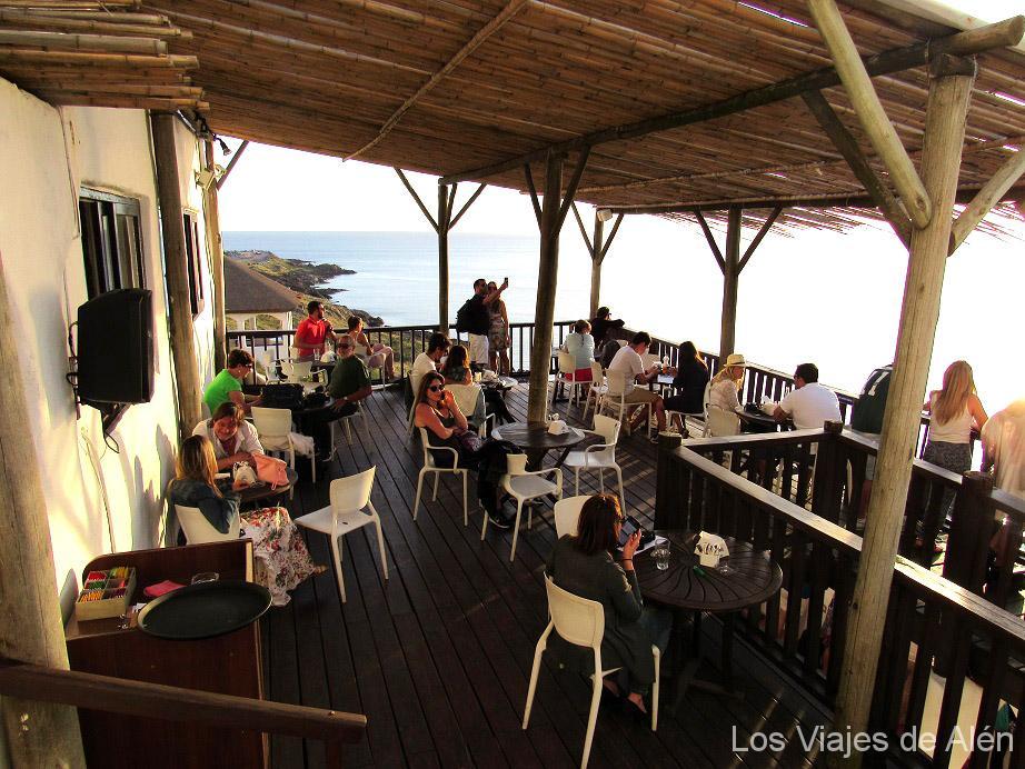 terraza en Casapueblo (Uruguay)